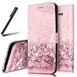 Galaxy S9 Plus Stand Case,Samsung Galaxy S9 Plus Wallet Case,Galaxy S9 Plus Flip Case,SKYMARS Samsung Galaxy S9 Plus 2018 Cover Marble Creative Design PU Leather Flip Kickstand Cards Slot Wallet Magnet Stand Case for Samsung Galaxy S9 Plus 2018 Rose Gold Sand