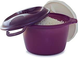 Tupperware Microwave Rice Cooker Purple Large 3Lor 12 cup
