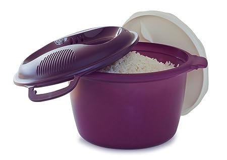 Tupperware Microondas Cocina De Arroz redondo: Amazon.es: Hogar