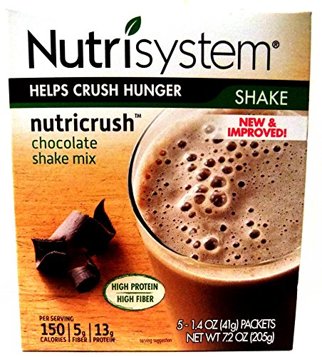Nutrisystem Nutricrush Craving Crusher  New   Improved Chocolate Shake Mix   Free Beverage Bottle  1 Box  Contains 5 1 4 Oz Packets