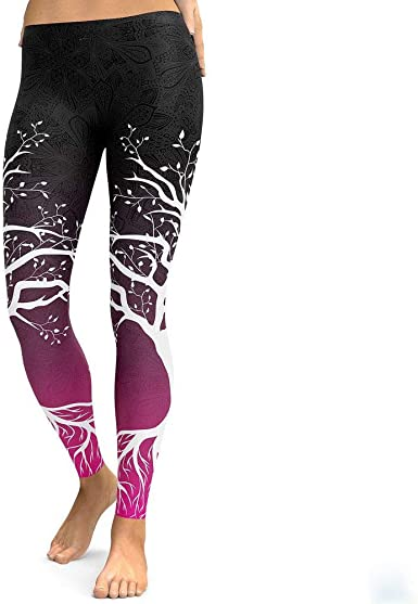 Womens Workout Leggings Running Tights Yoga Pants