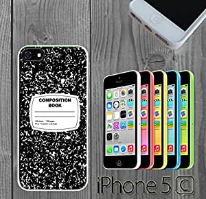 Composition Notebook Funny Retro Custom made Case/Cover/Skin FOR iPhone 5C Color -White- Rubber Case