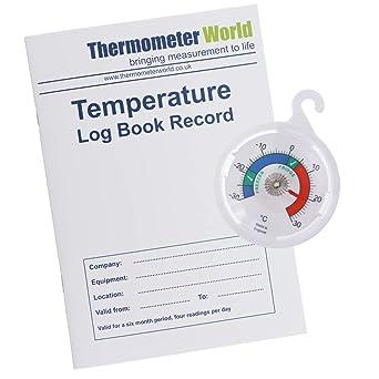 Libro de registro de temperatura con dial de 65 mm termómetro para ...