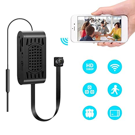 lifesongs 1080 P WIFI Cámara oculta portátil espía Mini pequeña cámara de seguridad con detección de