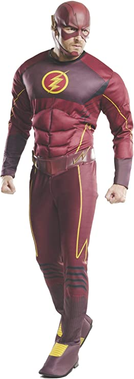 Rubies The Flash Deluxe - Disfraz de Adulto para adultos: Amazon ...