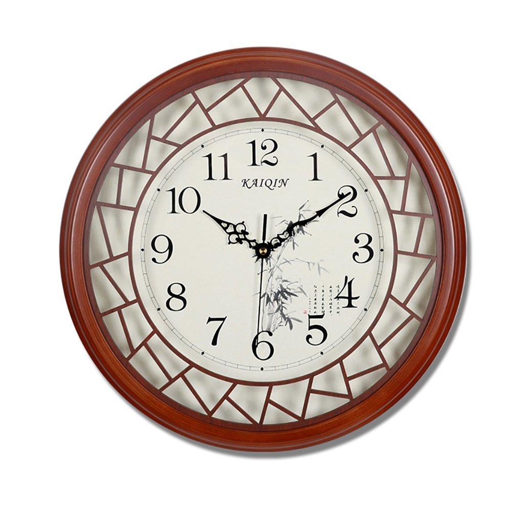 SESO UK- Design Round Vintage Retro Wanduhr Holz Wohnzimmer Hanging Quartz Uhren (größe : S:32cm)