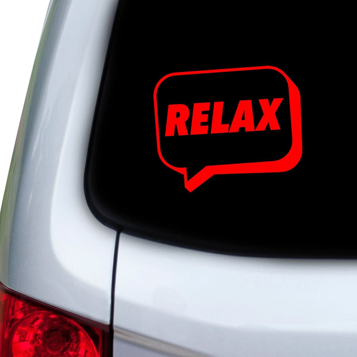 Red Hoods StickAny Car and Auto Decal Series Relax Speech Bubble Sticker for Windows Doors