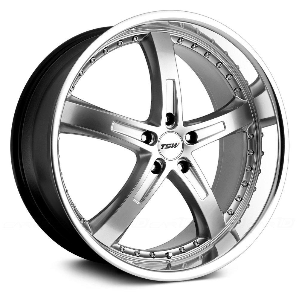"""TSW Jarama Custom Wheel Hyper - Silver with Mirror Cut Lip 20"""" x 8.5"""", 20 Offset, 5x114.3 Bolt Pattern, 76mm Hub"""