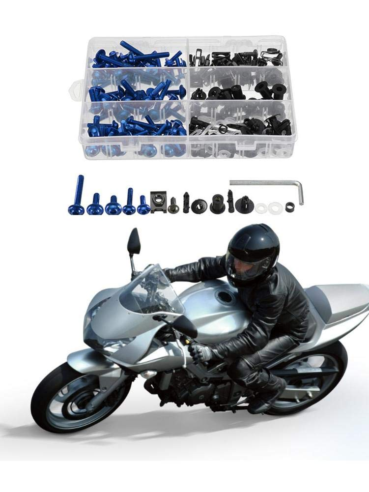 Yestter 223pcs Motorcycle Windshield rectifying Bolt Kit Color Screw Clip Screw for Honda//Yamaha//Kawasaki//Suzuki Body and Frame Fairing