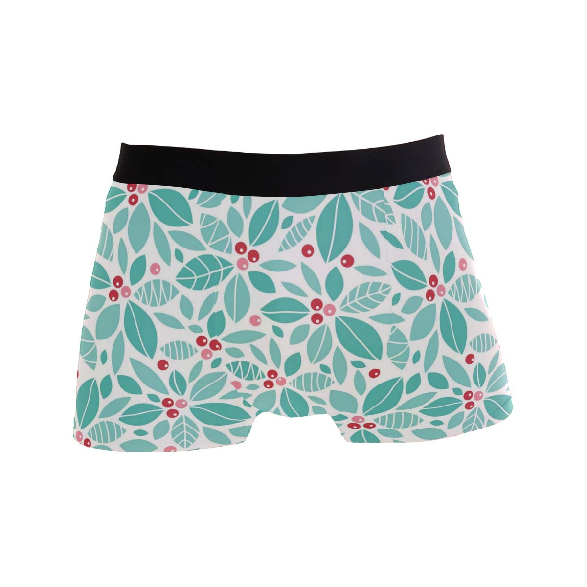 Blue Leaves and Red Fruits Mens Underwear Boxer Briefs Underwear Mens Underwear Mens 2 Pack