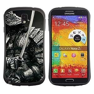 Hybrid Anti-Shock Bumper Case for Samsung Galaxy Note 3 / Samurai Warrior