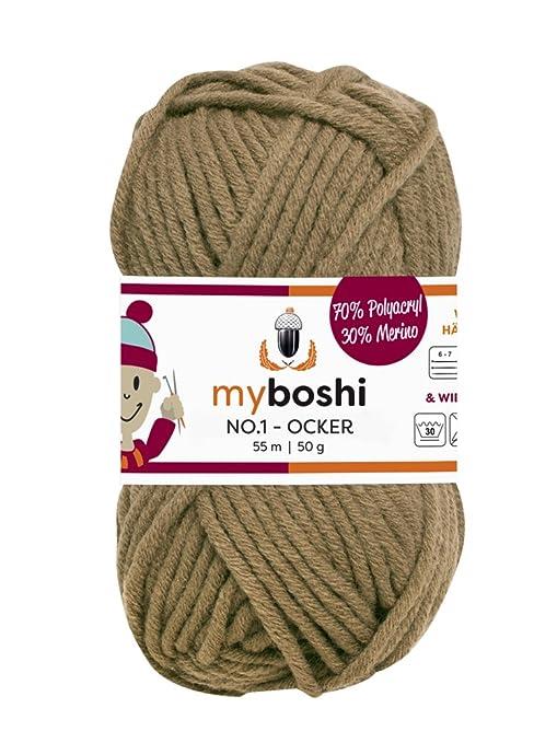 Myboshi 172 Ocker Merino Wolleacrylgarn No 1 Zum Stricken