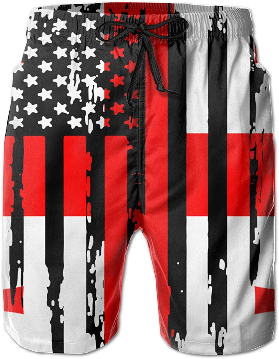 Mens Abstract American Georgia Flag Boardshorts Swimming Shorts