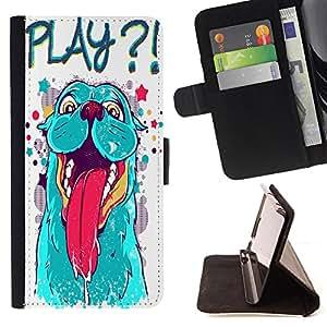 King Case - FOR LG Nexus 5 D820 D821 - ?I can know everything? - Prima caja de la PU billetera de cuero con ranuras para tarjetas, efectivo Compartimiento desmontable y correa para la mu?eca