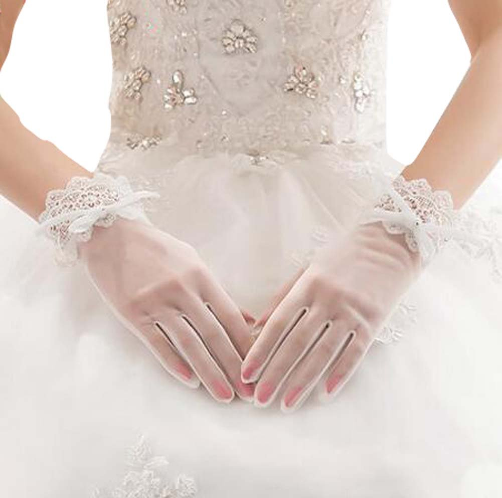 Lace Bridal Gloves Wedding Accessory Elegant Gloves for Women East Majik