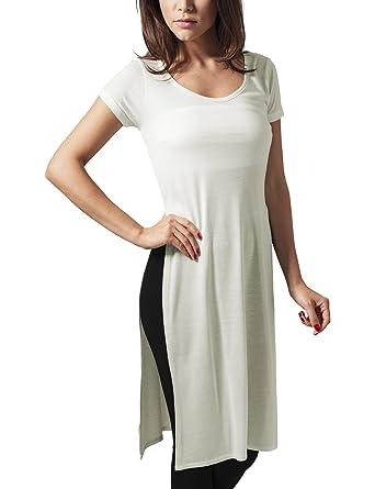 Urban Classics Damen T-Shirt Ladies Side Slit Viscose Long Tee  Amazon.de   Bekleidung 189ffc9bf0