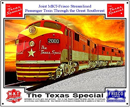 R&R Railroad Tin Sign - Texas Special