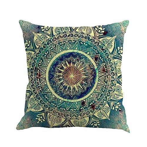 - Throw Pillow Covers, E-Scenery Clearance Sale! Boho Square Decorative Throw Pillow Cases Cushion Cover for Sofa Bedroom Car Home Decor, 18 x 18 Inch (F)