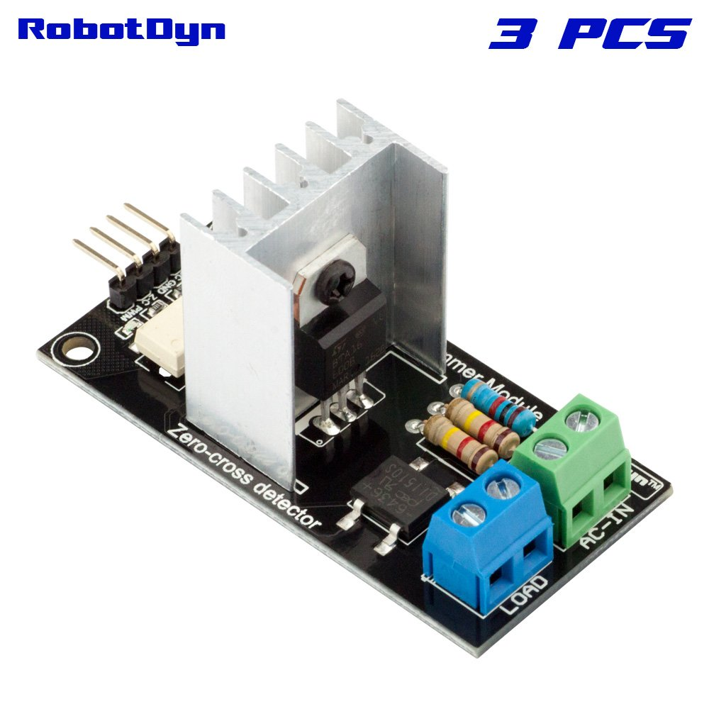 AC Light Dimmer Controller Module for Arduino Raspberry pi RobotDyn 220V//110V ARM 3.3V//5V Logic AC 50//60hz STM32 1 Channel AVR