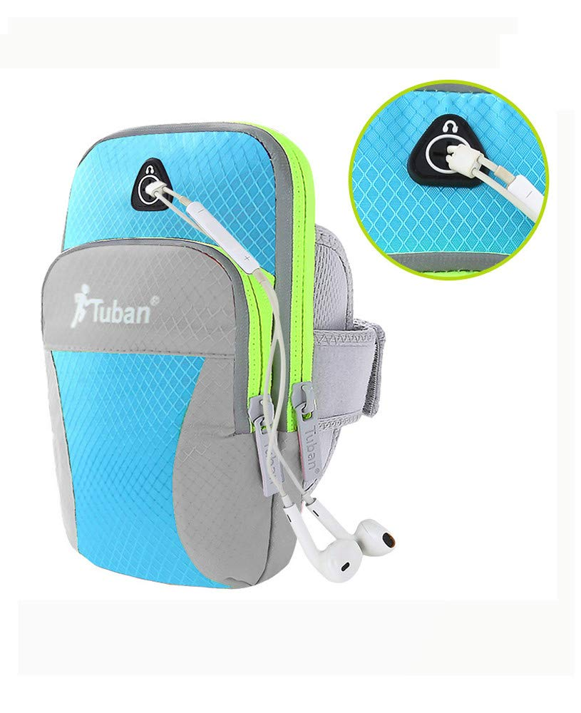 Flurries Sports Arm Bag Wrist Bag Outdoor Sports Waterproof Mobile Phone Arm Bag for Running Fitness Cycling