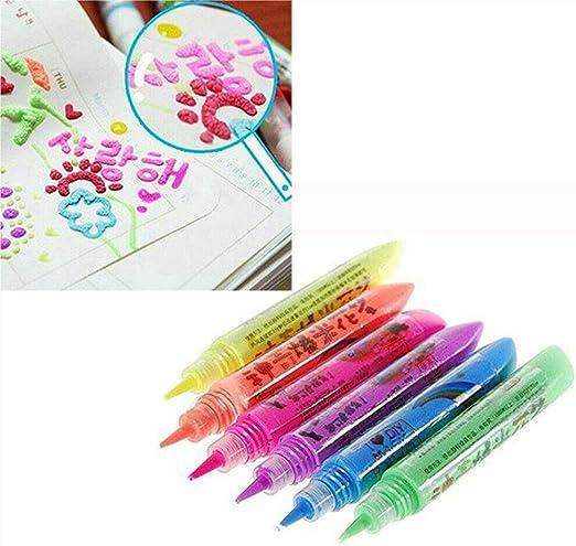 Magic Popcorn Pen,Magic Colour DIY Bubble Popcorn Drawing Pens(Pack of 6): Amazon.es: Hogar