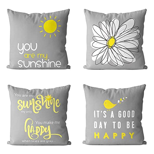 Dyyicun12 4 UNIDS Decoretive Lindo Throw Pillow Cubre ...