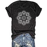 DORFALNE Wild and Freedom Graphic Tees Womens Short Sleeve Round Neck Leisure Interesting Print Shirt top