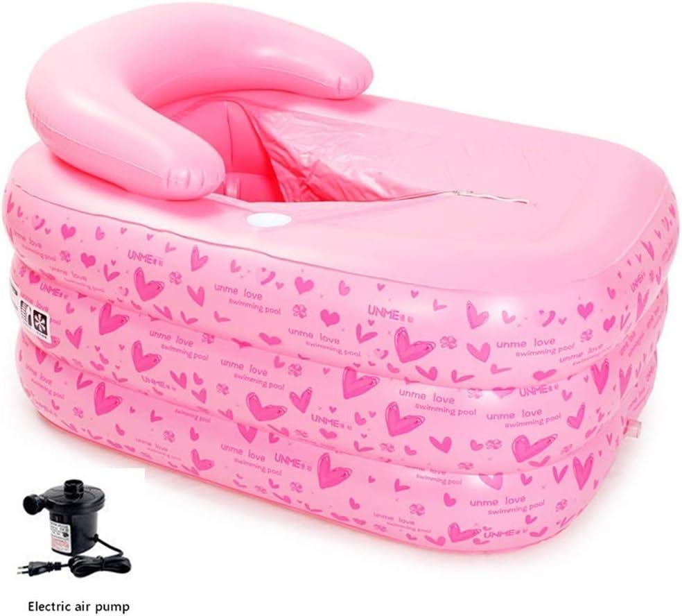 YQJJZX Bomba de Aire eléctrica Piscina Inflable + Bañera Independiente Bañera del Balneario de la bañera Inflable Infantil Baño Bañera de hidromasaje Barril Plegable de PVC niños