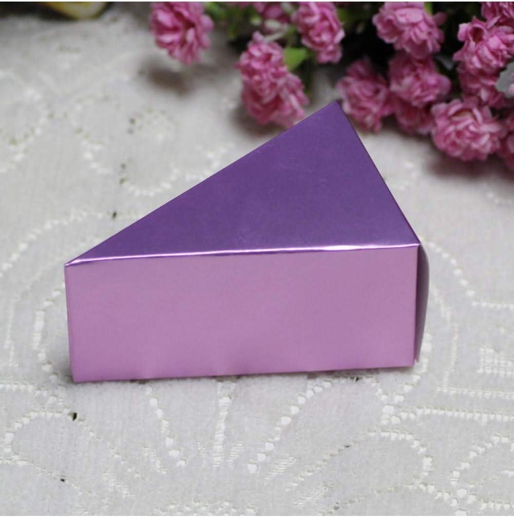 LJPHKK Caja De Regalo De Pastel De Caja De Dulces De Boda De 10 Piezas,Violeta Claro