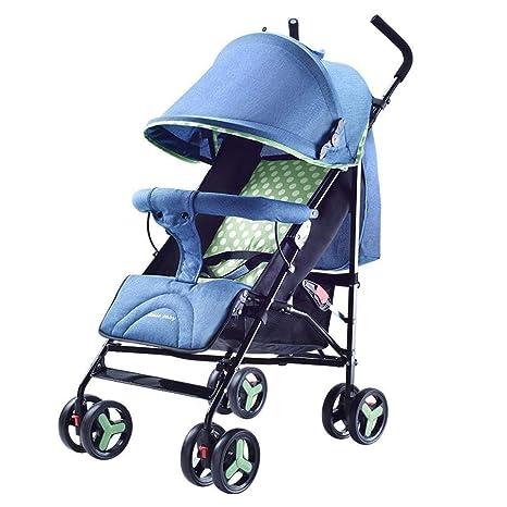 Olydmsky Carro Bebe,Bebé Cochecito luz portátil Plegable Puede Sentarse Carro fácil