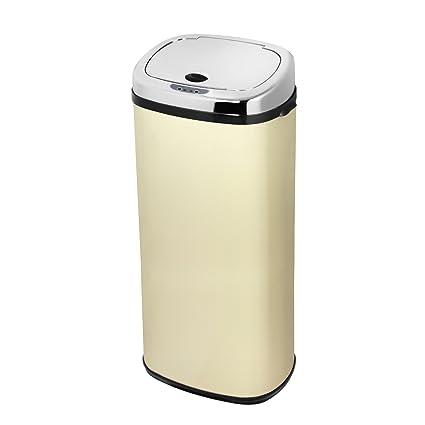 Morphy Richards 50 litros cubo de basura cuadrado Sensor, crema