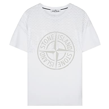 1a9895d18b1c3 Stone Island Compass Logo Pin T-Shirt White V0001 2NS85 Large   Amazon.co.uk  Clothing