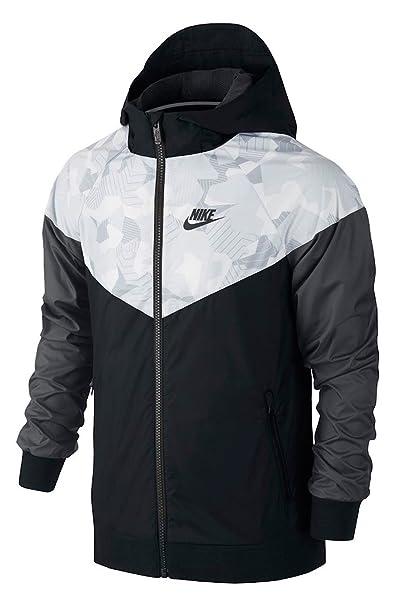 e3c10182b1 Nike Sportswear Windrunner Big Kids' (Boys') Jacket Black Size Medium