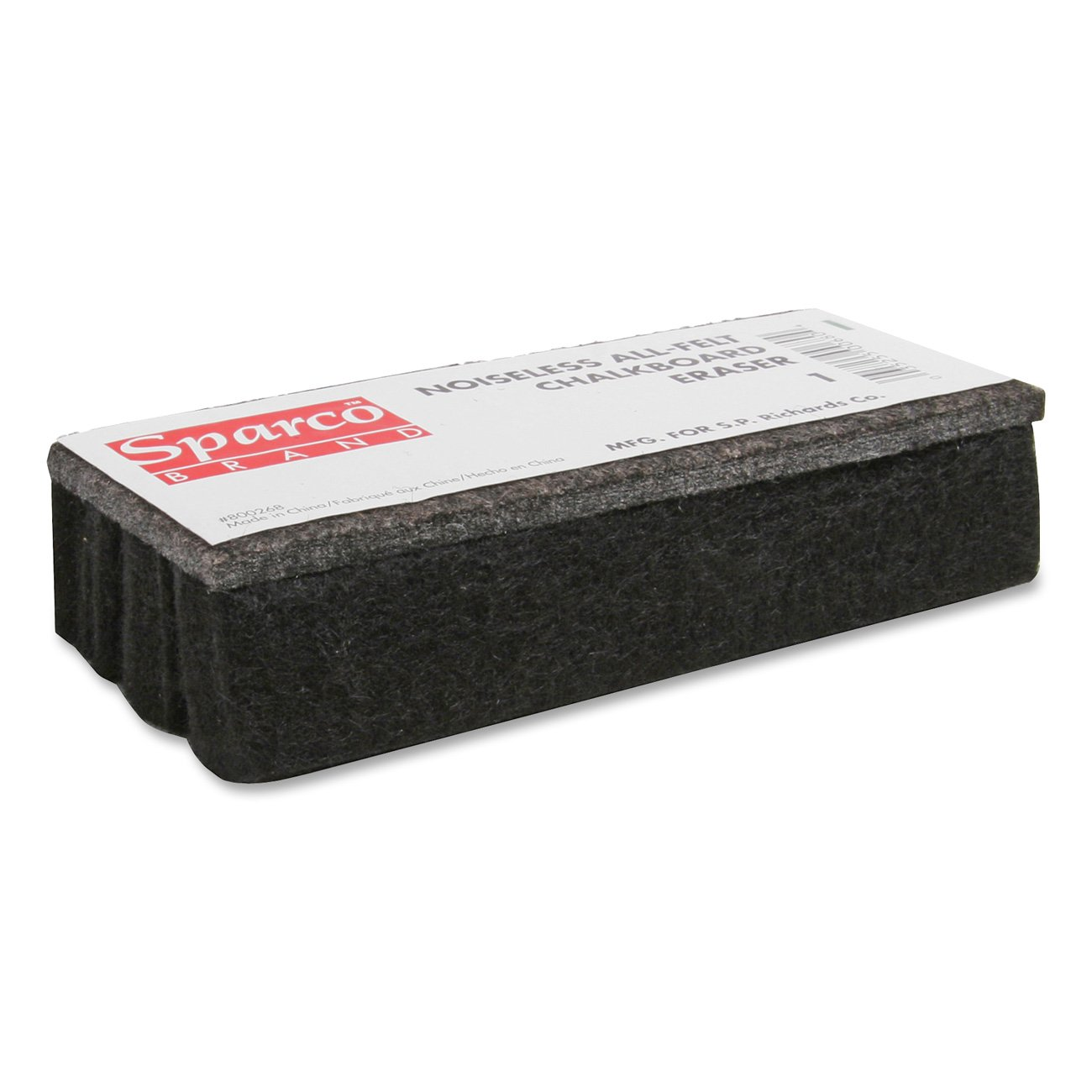 Sparco SPR1 Chalkboard Eraser, All-Felt, Dustless, Black S.P. Richards Company