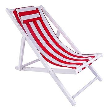 YLLXX Accompagnant Chaise De Plage Pliante En Toile Inclinable Bois Solide