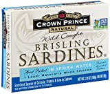 Crown Prince Natural One Layer Brisling Sardines in Spring Water, 3.75-Ounce Cans (Pack of 12)
