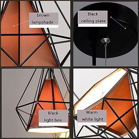 Gdtime Lámpara colgante E27 Moderna lámpara de techo Lámpara de aluminio para sala de estar Dormitorio Oficina Restaurante Cafe Bar Hotel Lámpara ...