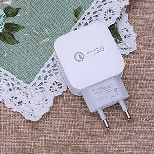 UU QC 3.0 Adaptador de Carga r/ápida r/ápida Viaje a casa Enchufe de CA Tel/éfono Cargador de Pared USB Accesorios para tel/éfonos m/óviles Enchufe de la UE de EE Enchufe de la UE Blanco