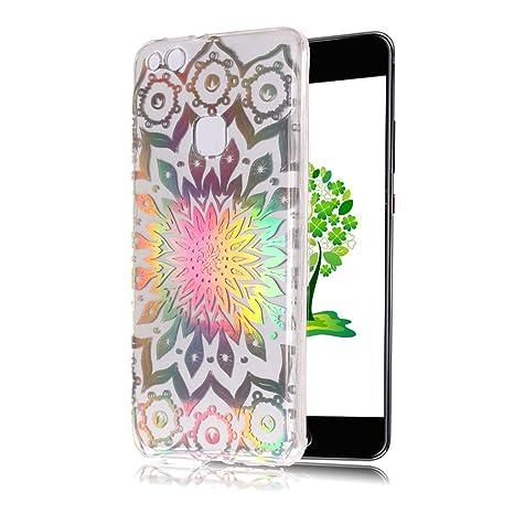 Yunbaoz Funda Transparente para Huawei P10 Lite, Láser ...