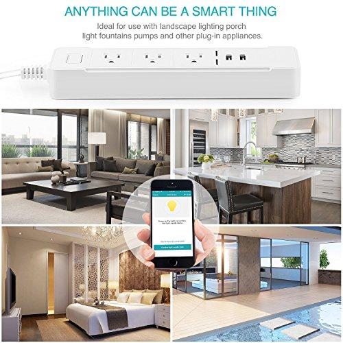 Smart WiFi Wall Outlet Wireless Standard Smart In-Wall Lighting ...