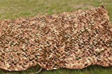 FuriGer Woodland Camo Netting,Camouflage Net for Camping Military Blind Hide Hunting Shooting Hide Fishing Shelter,Party Decoration on Halloween Christmas,Jungle Sunscreen Net,6.5ftx13ft (2mx4m)