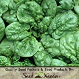 """180 Seeds, Spinach """"Bloomsdale Long Standing"""" (Spinacia oleracea) Seeds By Seed Needs"""