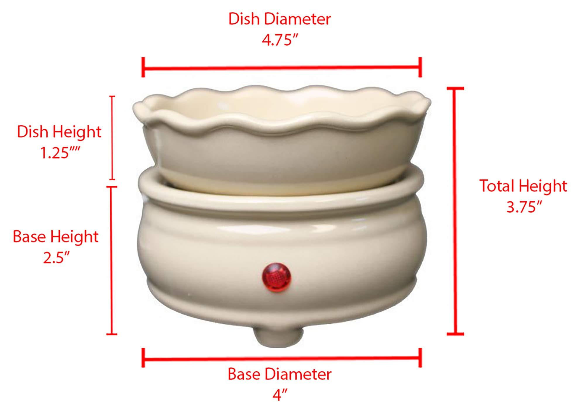 Original Candle Warmer - Electric 2-in-1 Fragrance Air Freshener - 2 Piece Ceramic Melt Tart Wax Cube Melter - Eliminate Odors - Beige by OBI