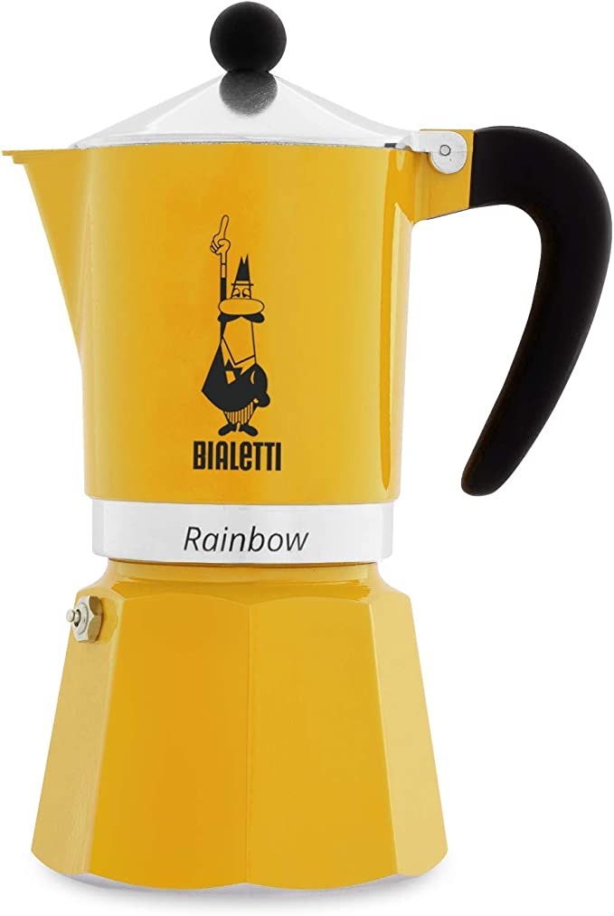 Bialetti Rainbow Cafetera Italiana Espresso, 6 Tazas, Aluminio ...
