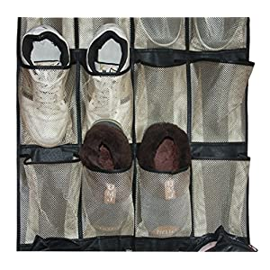 MISSLO Over the Door Organizer 24 Large Mesh Storage Pockets