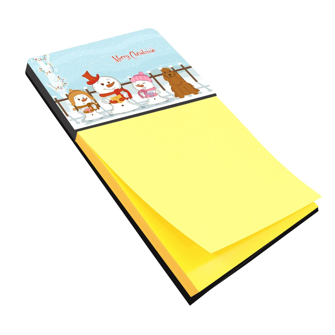 BB2426SN Carolines Treasures Merry Christmas Carolers Cocker Spaniel Red Sticky Note Holder Multicolor