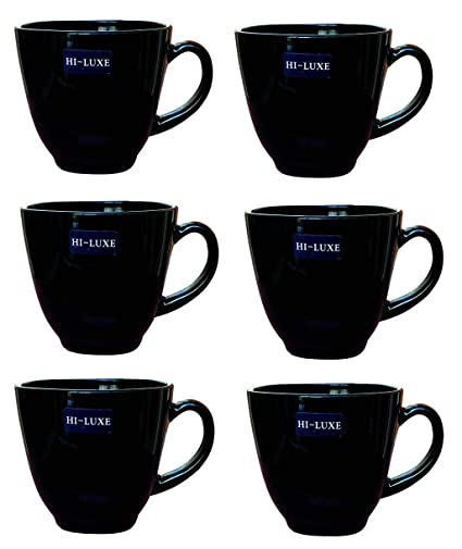bb7f2f847ec Buy Saanveria HI-Luxe Ceramic Tea Cup Set of 6 (Glossy White and Gold)  Online at Low Prices in India - Amazon.in