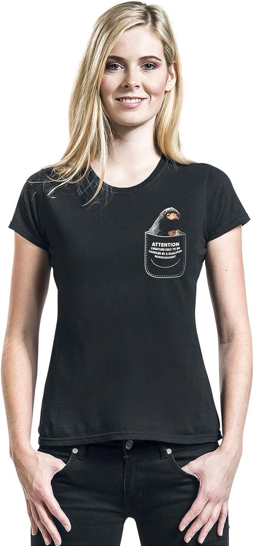 Ladies Black Womens Fantastic Beasts Crimes of Grindelwald Niffler T-Shirt
