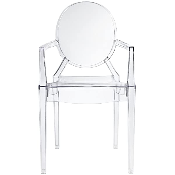 Modway Casper Modern Acrylic Dining Armchair in Clear, 1 Chair