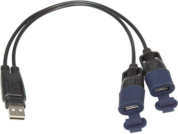 Tecmate Optimate Cable O 110 Usb Y Splitter Mit Witterungsbeständigem Anschlusssystem Auto